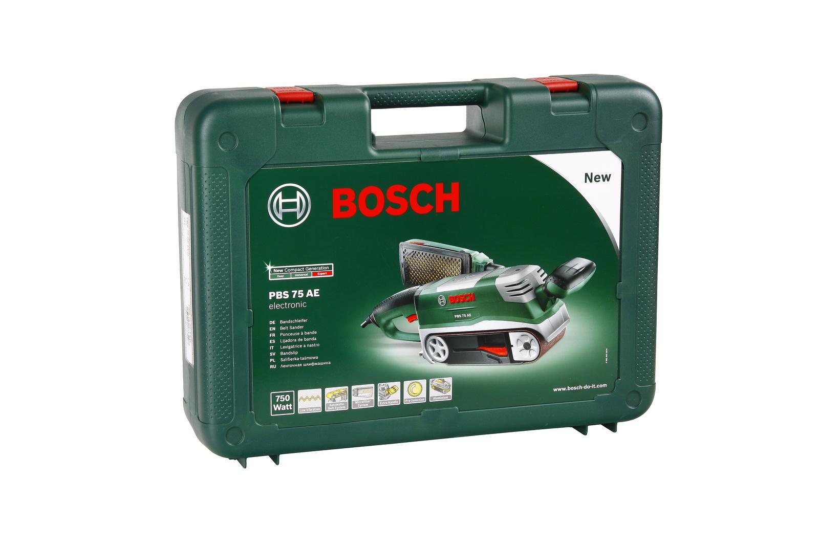 Машинка шлифовальная ленточная Bosch Pbs 75 ae (0.603.2a1.120)