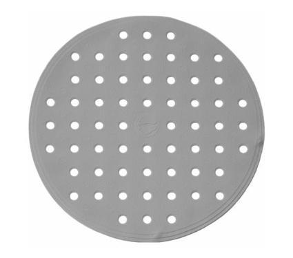 Коврик для ванной RIDDER 167227 action серый d 53см 530х530мм каучук