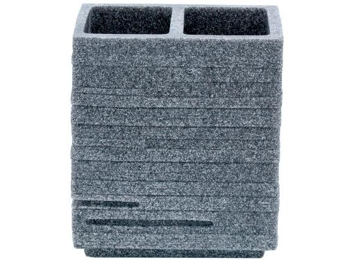 Двойной стакан для зубных щёток RIDDER Brick 22150207 серый