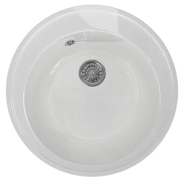 Мойка кухонная Mixline Ml-gm gloss 01, белая