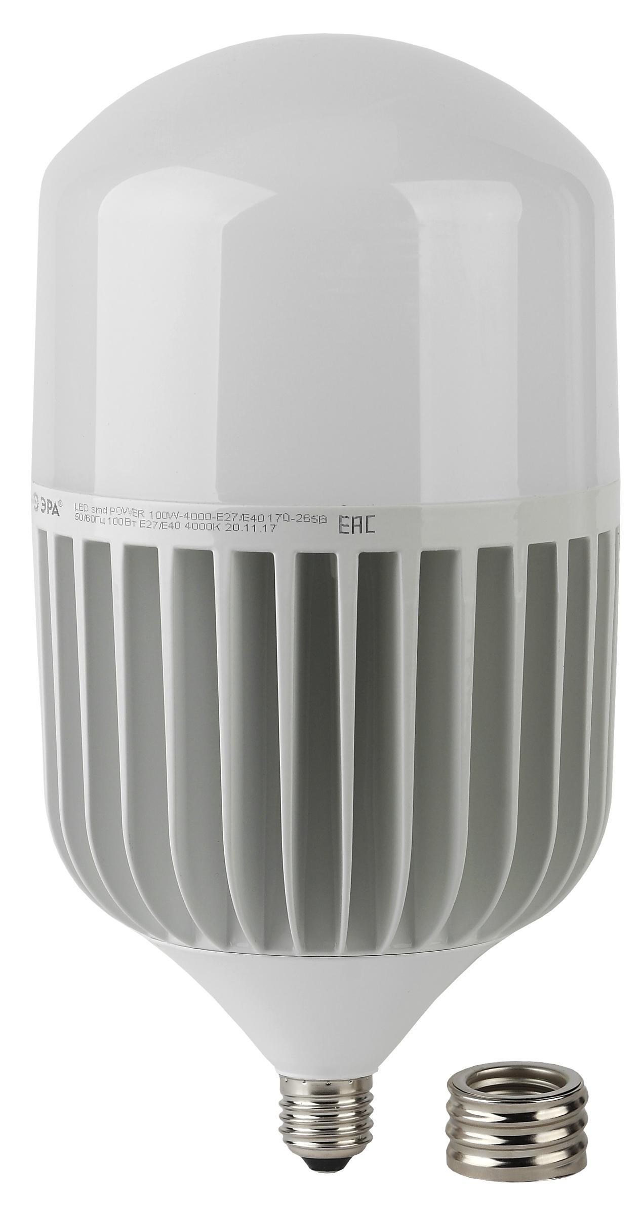 Лампа ЭРА Led power t160-100w-4000-e27/e40 (Б0032089)
