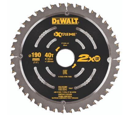 Диск пильный твердосплавный DEWALT DT4394-QZ Extreme