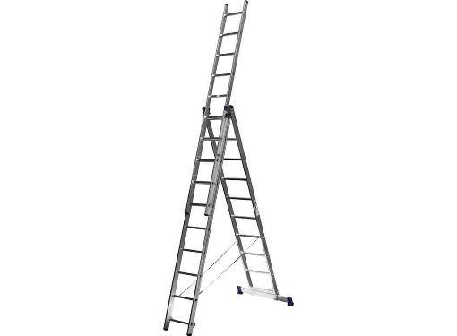 Универсальная лестница трехсекционная FIT 65435