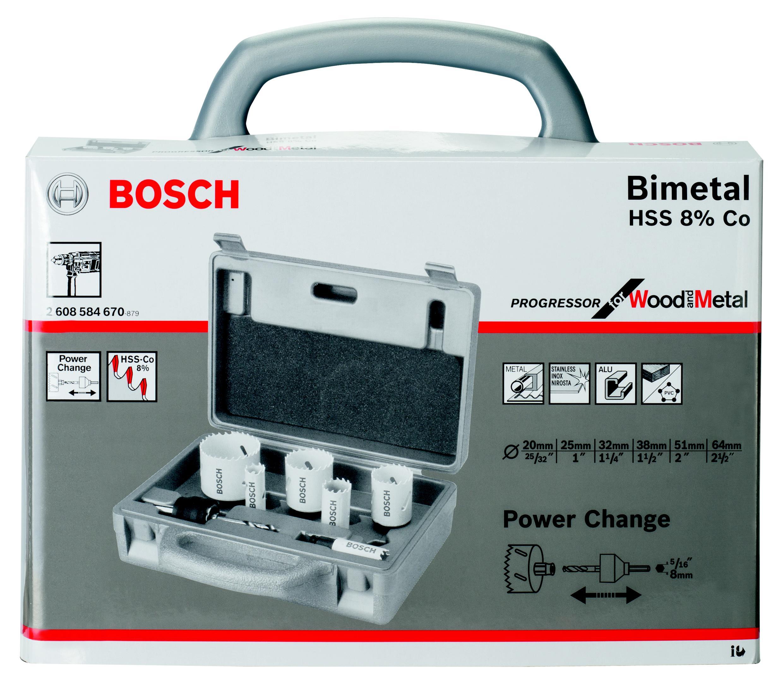 Купить Набор Коронок Bosch Progressor 6Шт. 20-64Мм, Биметаллические (2.608.584.670)