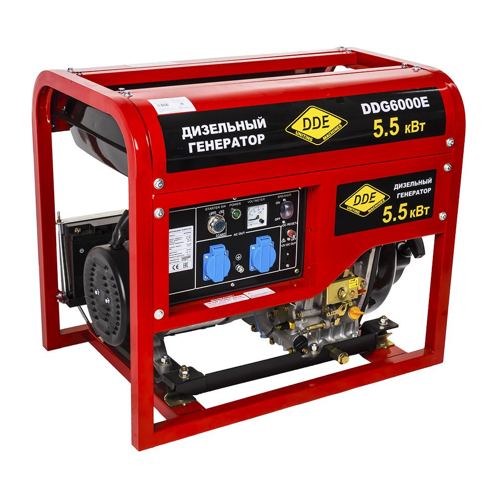 Дизельный генератор Dde Ddg6000e дизельный головка dde гм 80