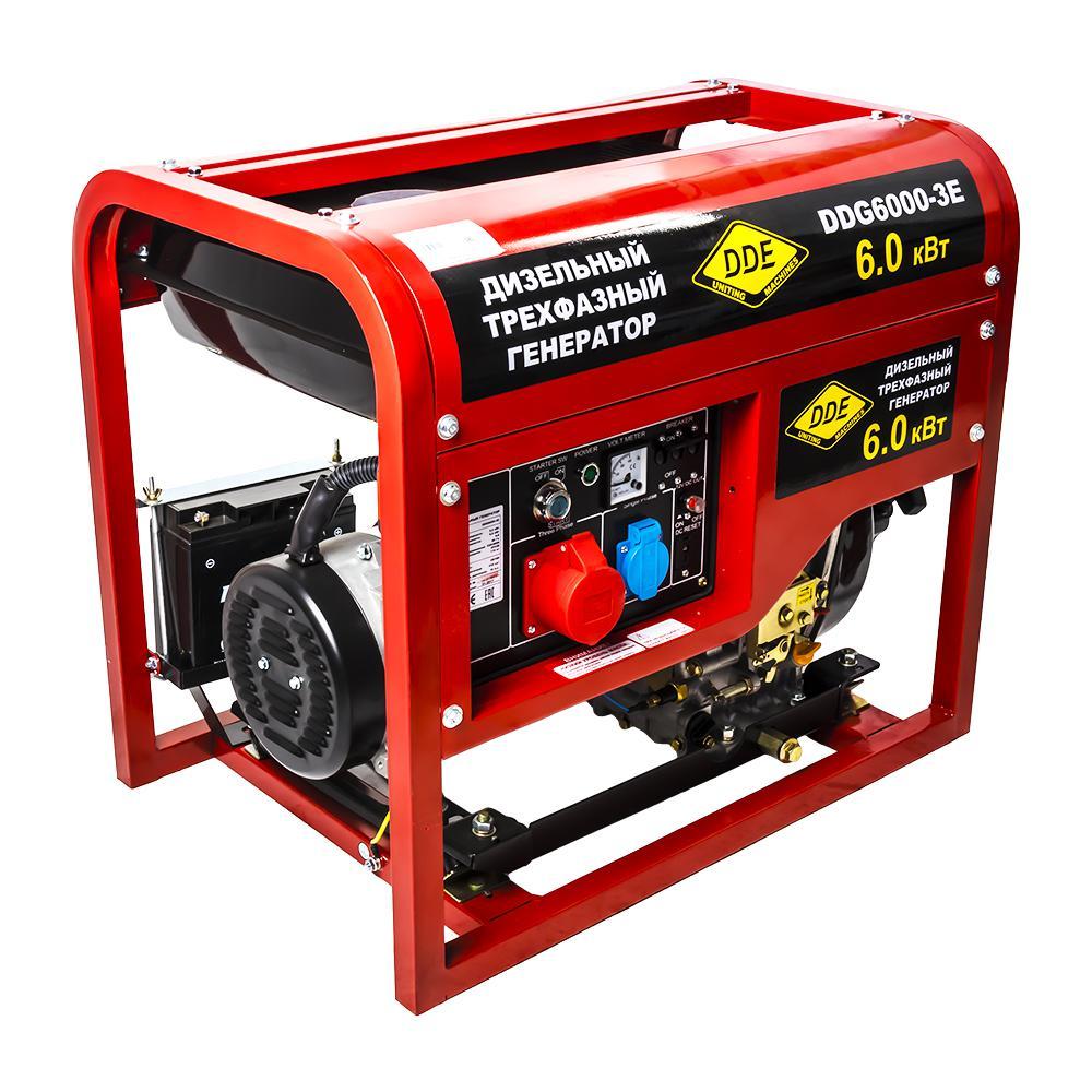 Дизельный генератор Dde Ddg6000-3e дизельный
