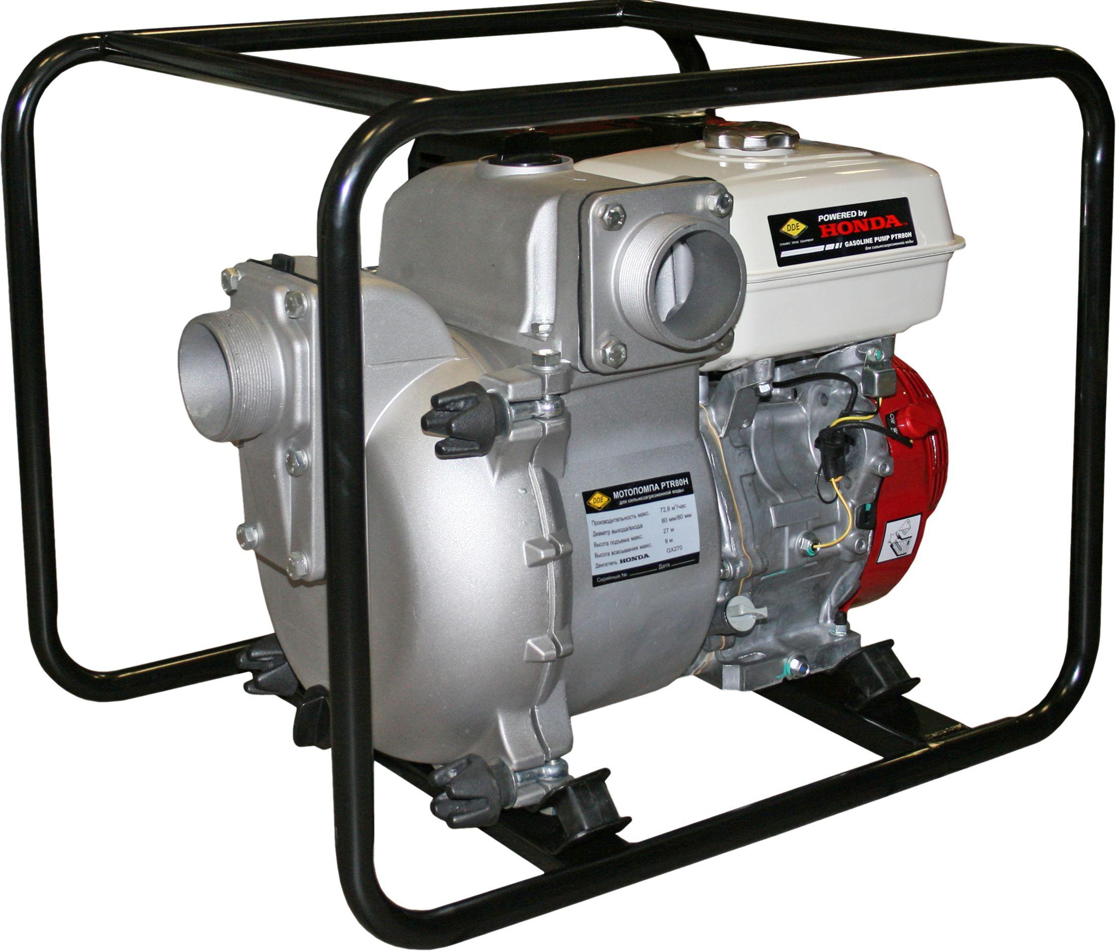 Бензиновая мотопомпа Dde Ptr80h грязевая бензиновая высоконапорная мотопомпа dde ph50