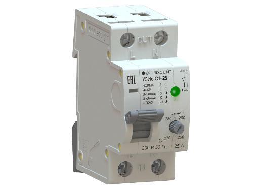 Устройство защиты от искрения ECOLIGHT УЗИс-С1-25-010110-ЭЛ003 в комплекте с УЗИс-И-003