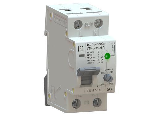 Устройство защиты от искрения ECOLIGHT УЗИс-С1-25-010110-ЭЛ003П в комплекте с УЗИс-И-003П