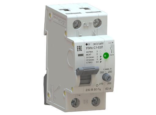 Устройство защиты от искрения ECOLIGHT УЗИс-С1-63-010110-ЭЛ003П в комплекте с УЗИс-И-003П