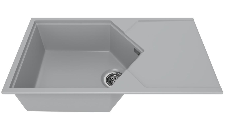 Мойка кухонная Kitkraken Sea grey