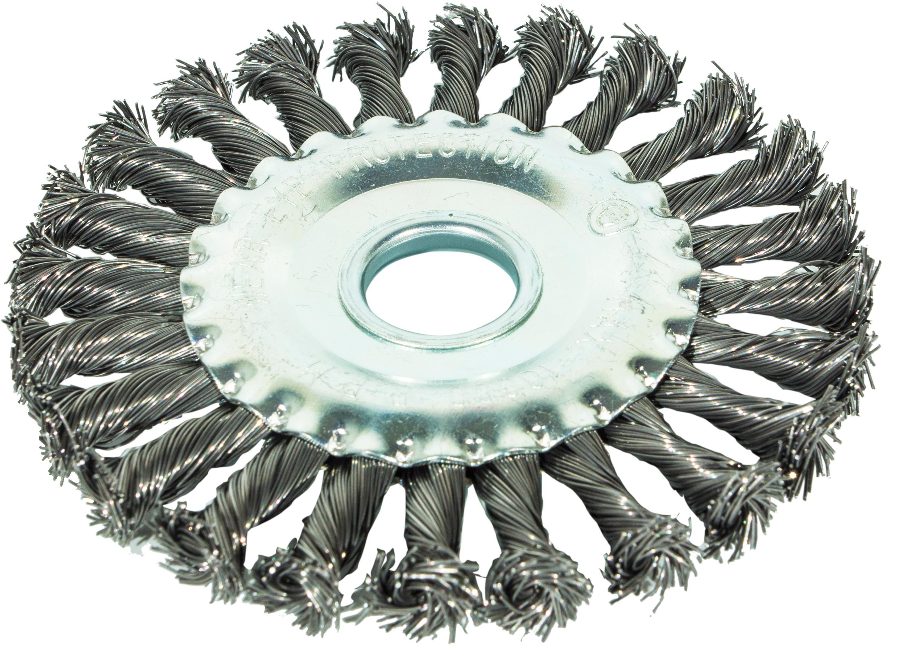 Кордщетка Grossmeister плоская 150мм для УШМ витая сталь (21028003)