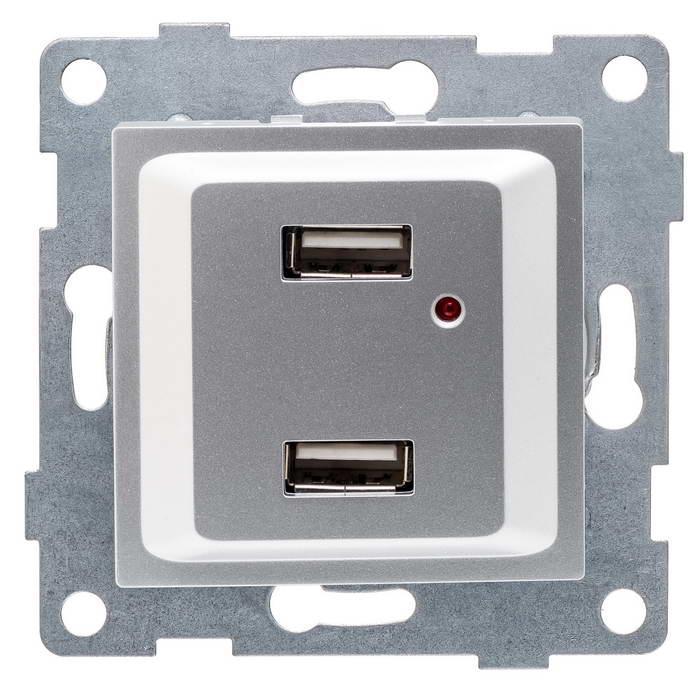 Механизм розетки Gusi electric С11usb2-004