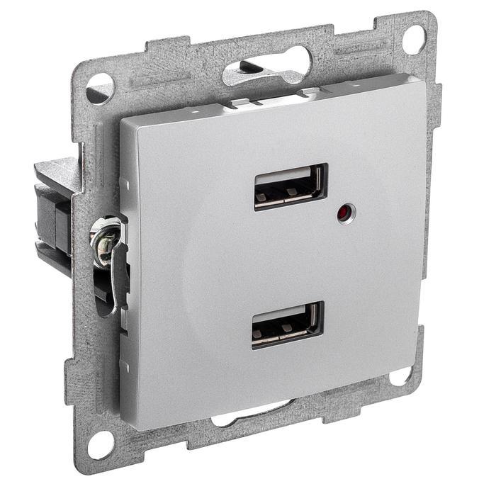 Механизм розетки Gusi electric С10usb2-004