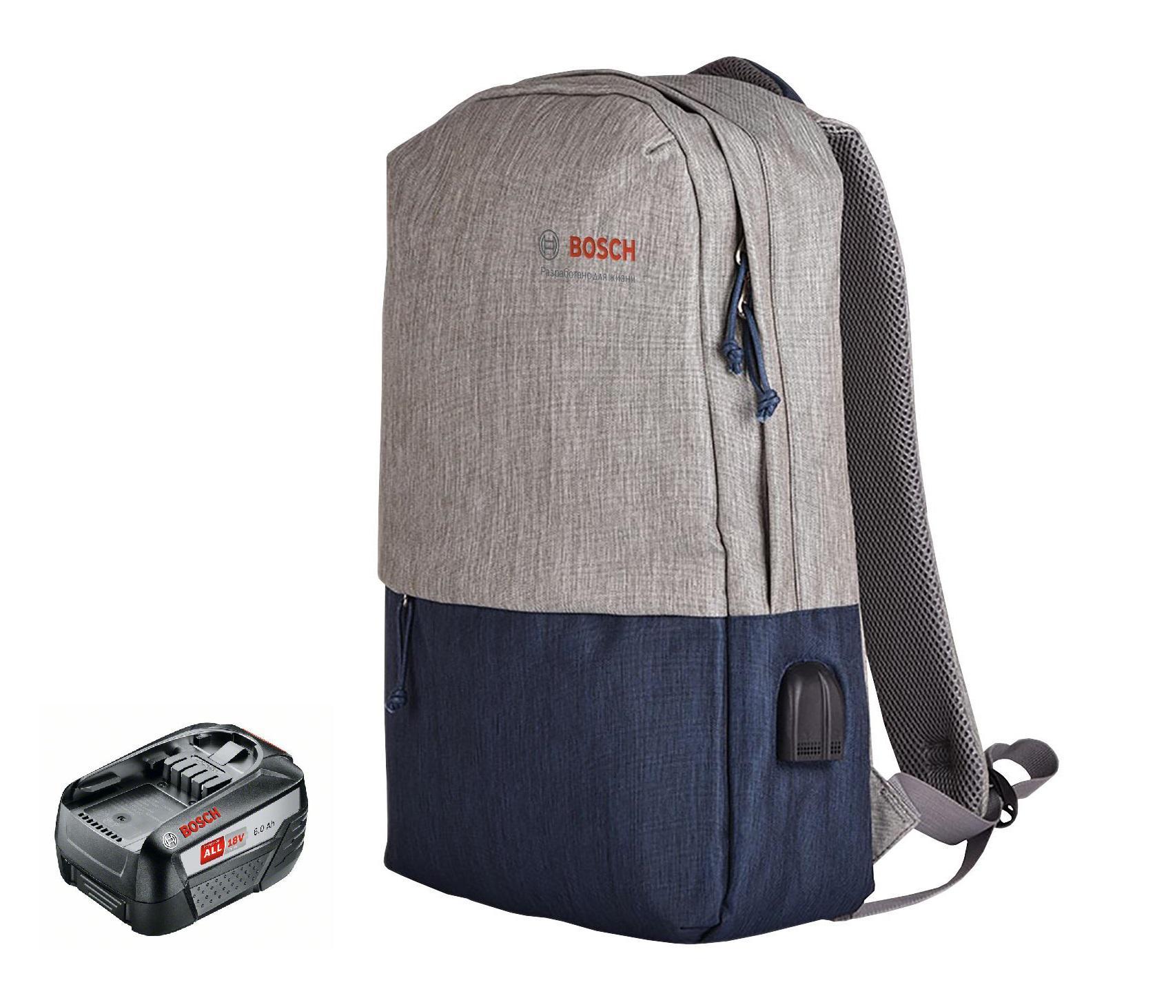 Фото - Набор Bosch Аккумулятор 18В 6Ач li-ion pba (1600a00dd7) +Рюкзак 1.619.m00.k04 набор bosch дрель аккумуляторная universaldrill 18 2акк и зу 06039c8005 рюкзак 1 619 m00 k04