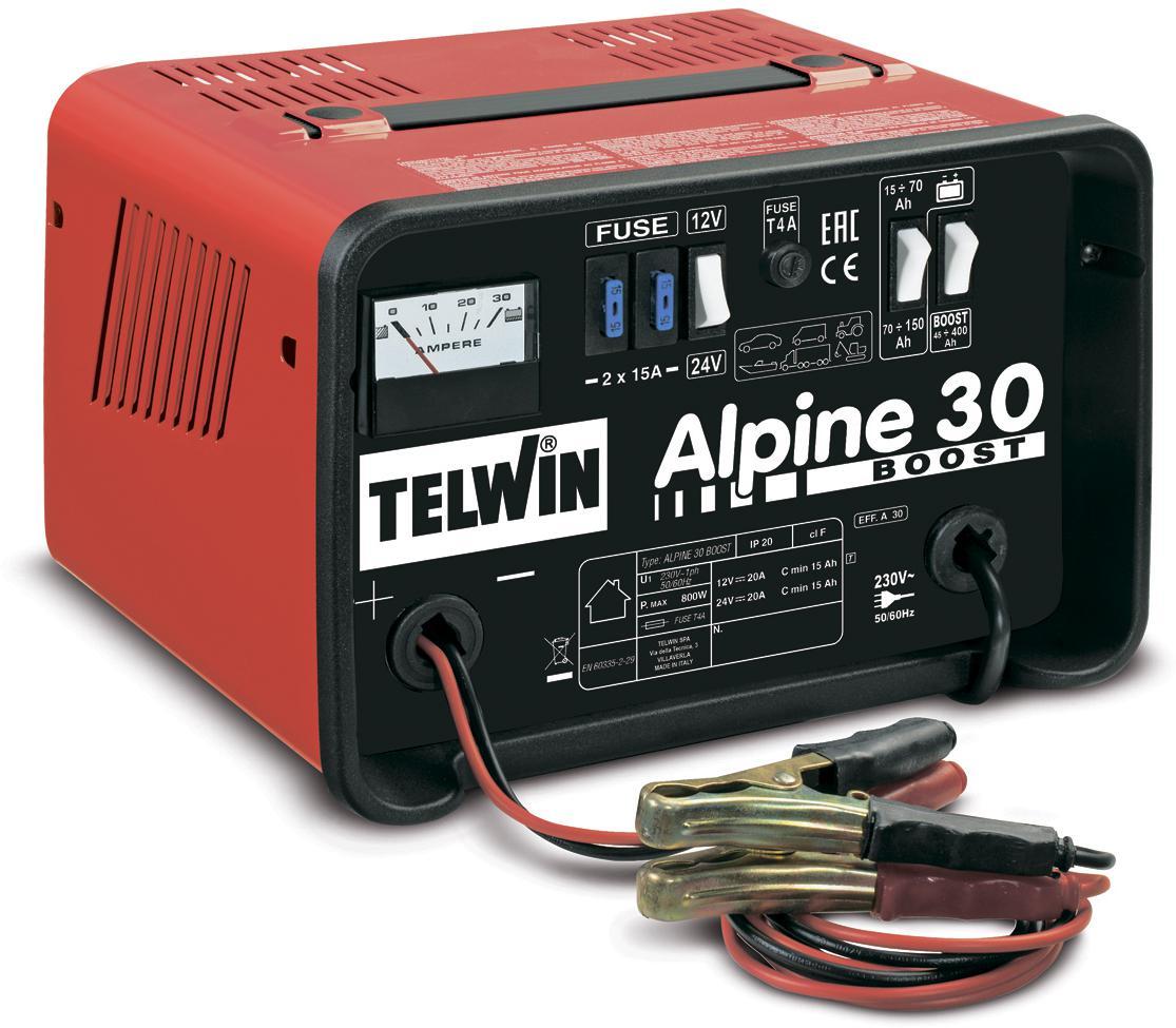 Однофазное автомобильное переносное зарядное устройство TELWIN Alpine 30 Boost для зарядки свинцовых аккумуляторов на.