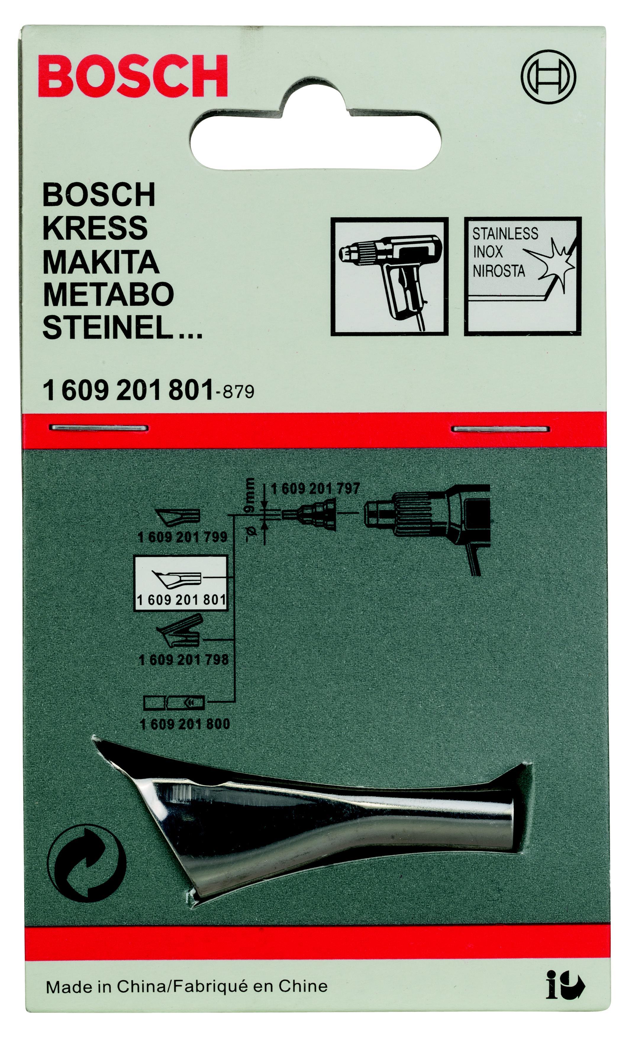 Насадка Bosch для фена - сварочное сопло (1.609.201.801)