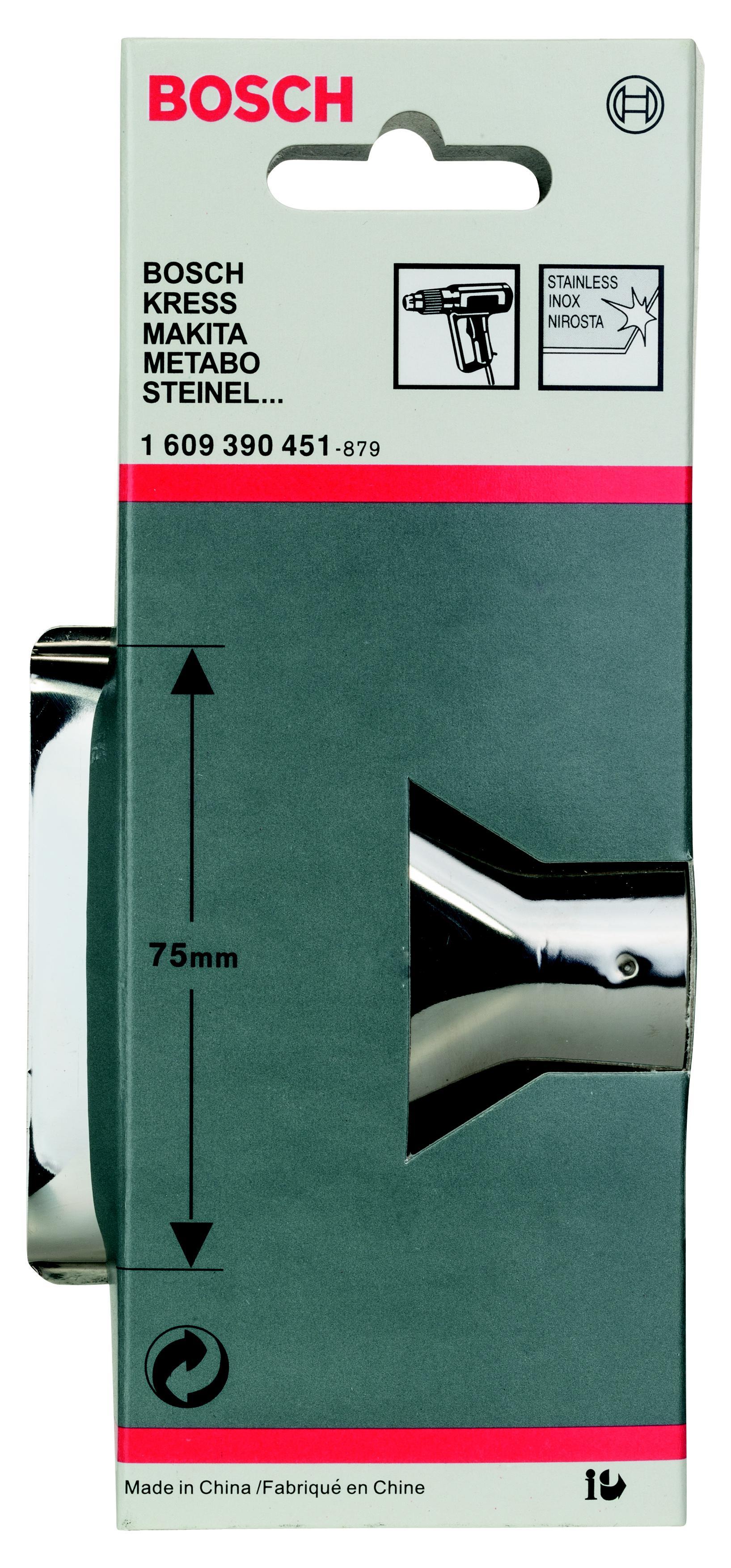 Насадка Bosch для фена - плоское сопло 75 мм (1.609.390.451) насадка для кухонного комбайна bosch muz8cc2