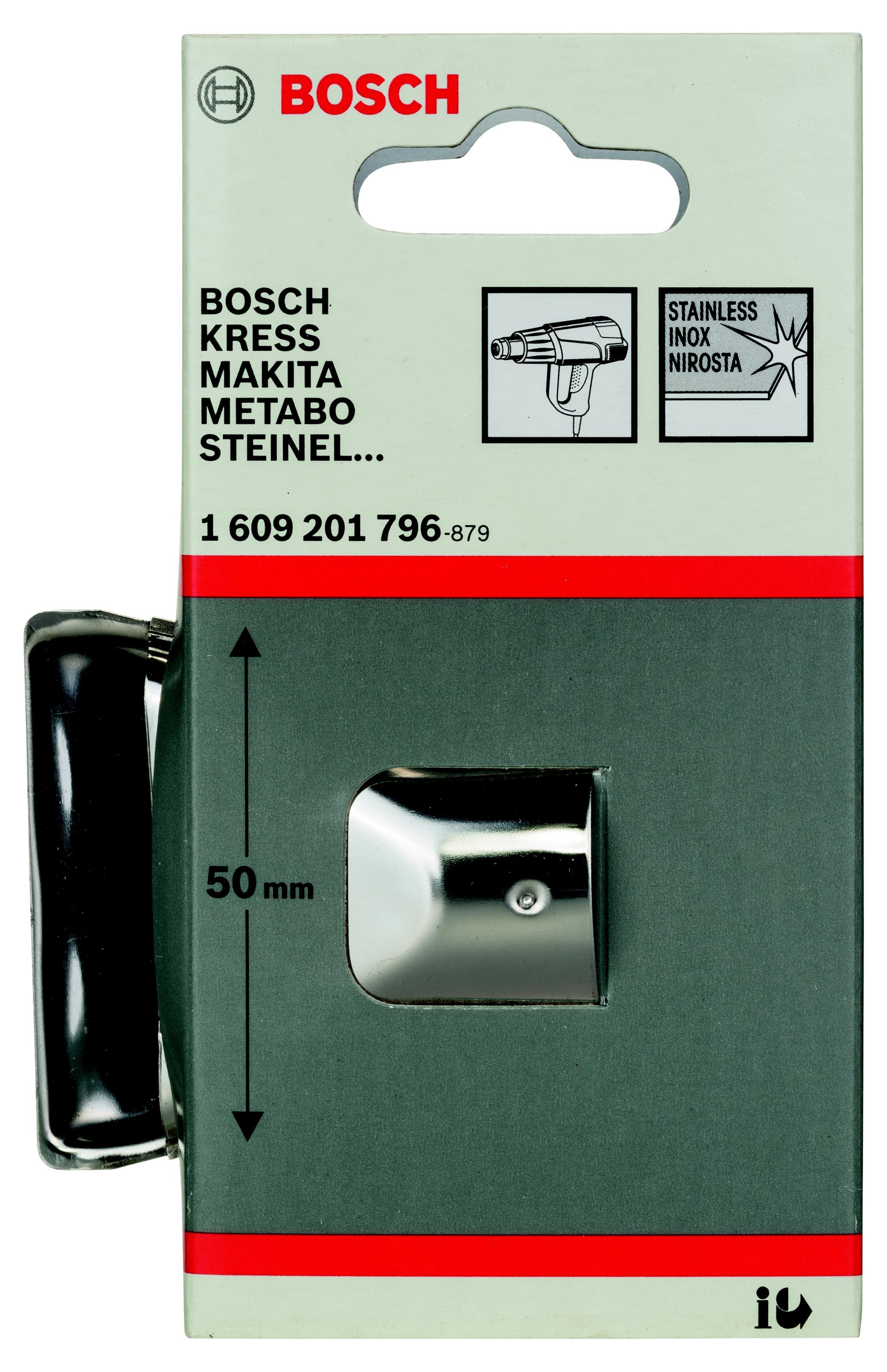 Насадка Bosch для фена - плоское стеклозащитное сопло 50 мм (1.609.201.796)