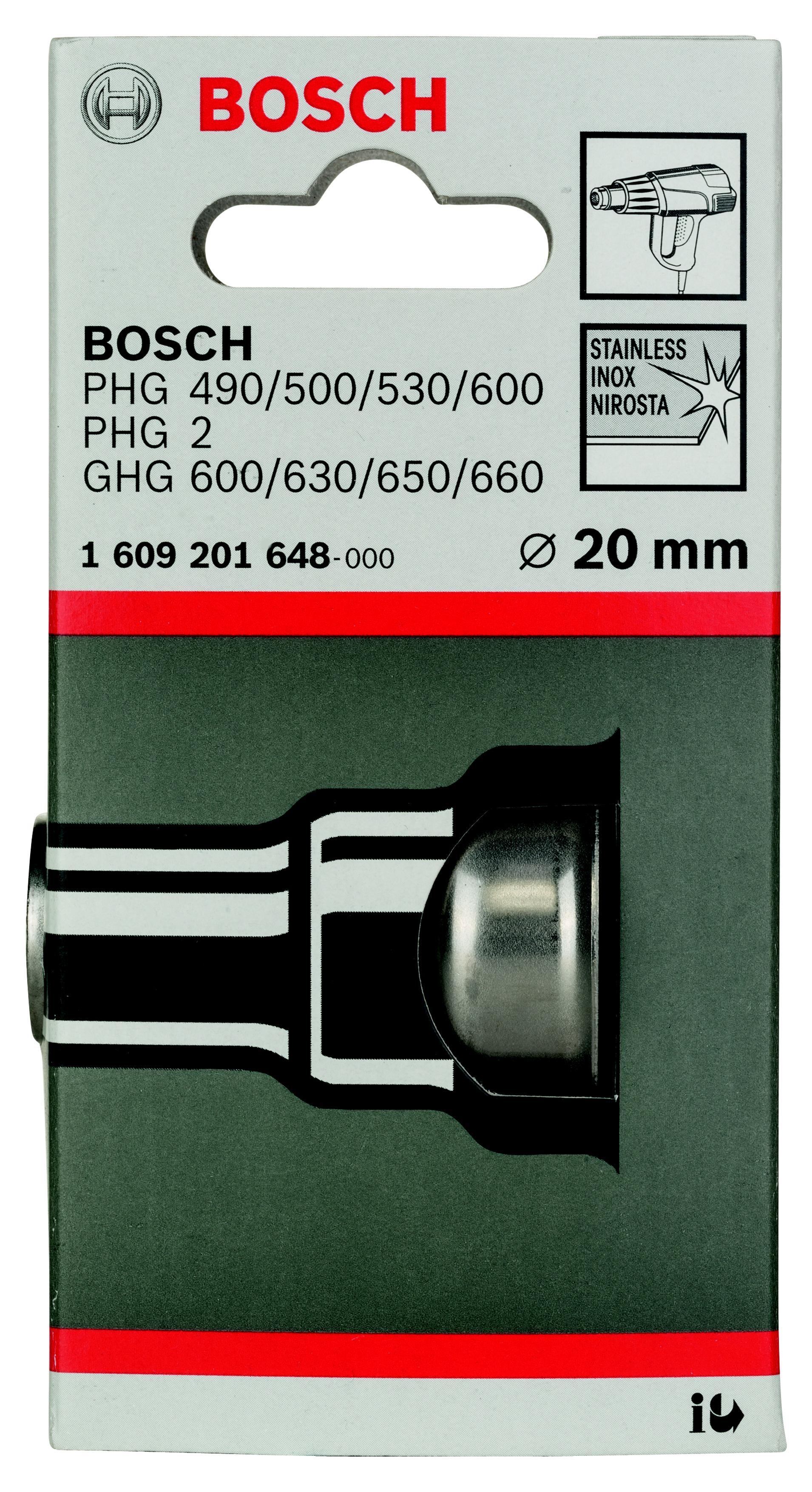 Насадка Bosch для фена - понижающее сопло 20 мм (1.609.201.648) насадка для кухонного комбайна bosch muz8cc2