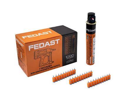 Гвозди для степлера FEDAST 3.0х25мм 1000шт. (fd3025mgbpfc)
