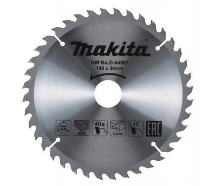 Диск пильный MAKITA Ф190х30мм 40 зуб. (D-64967)