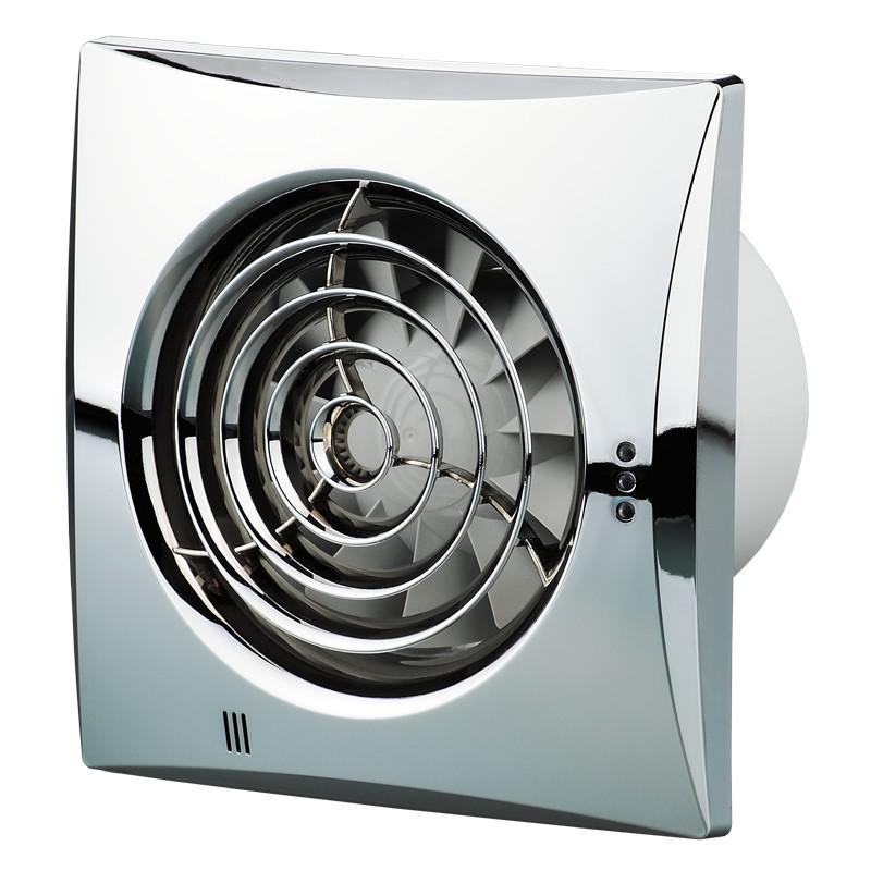 Вентилятор Vents 100 quiet хром (14333328)