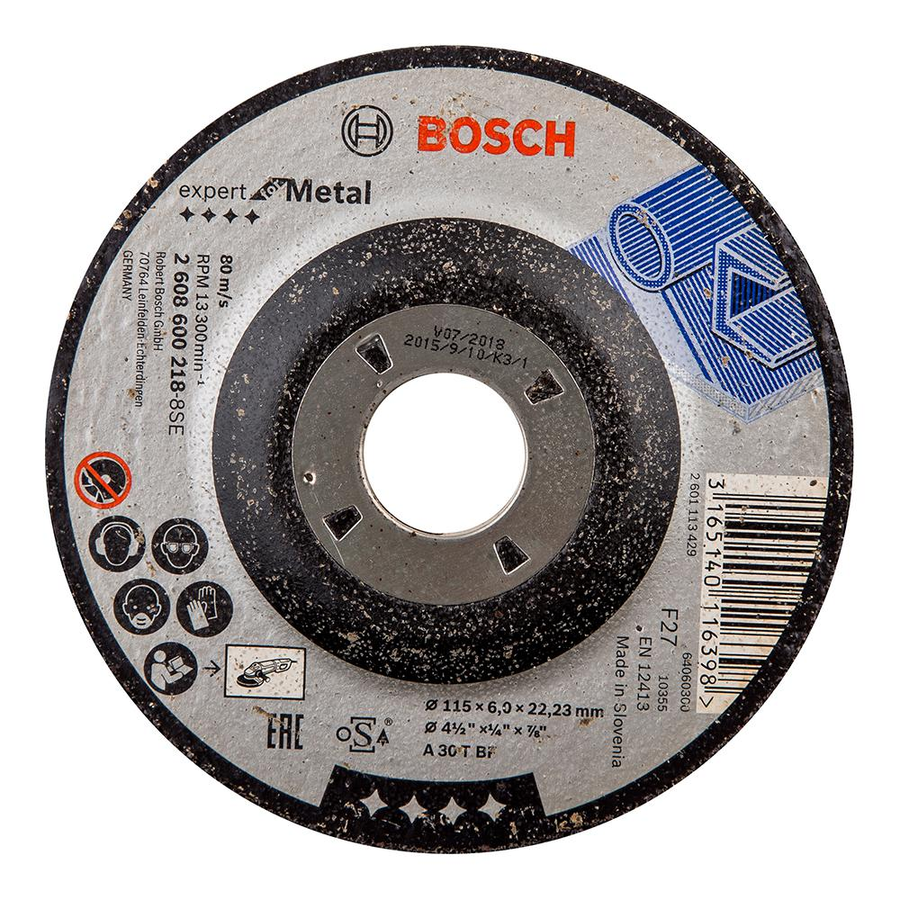 Круг зачистной Bosch Expert for metal 115x6x22 (2.608.600.218) круг зачистной hammer 115 x 6 0 x 22 по металлу 10шт