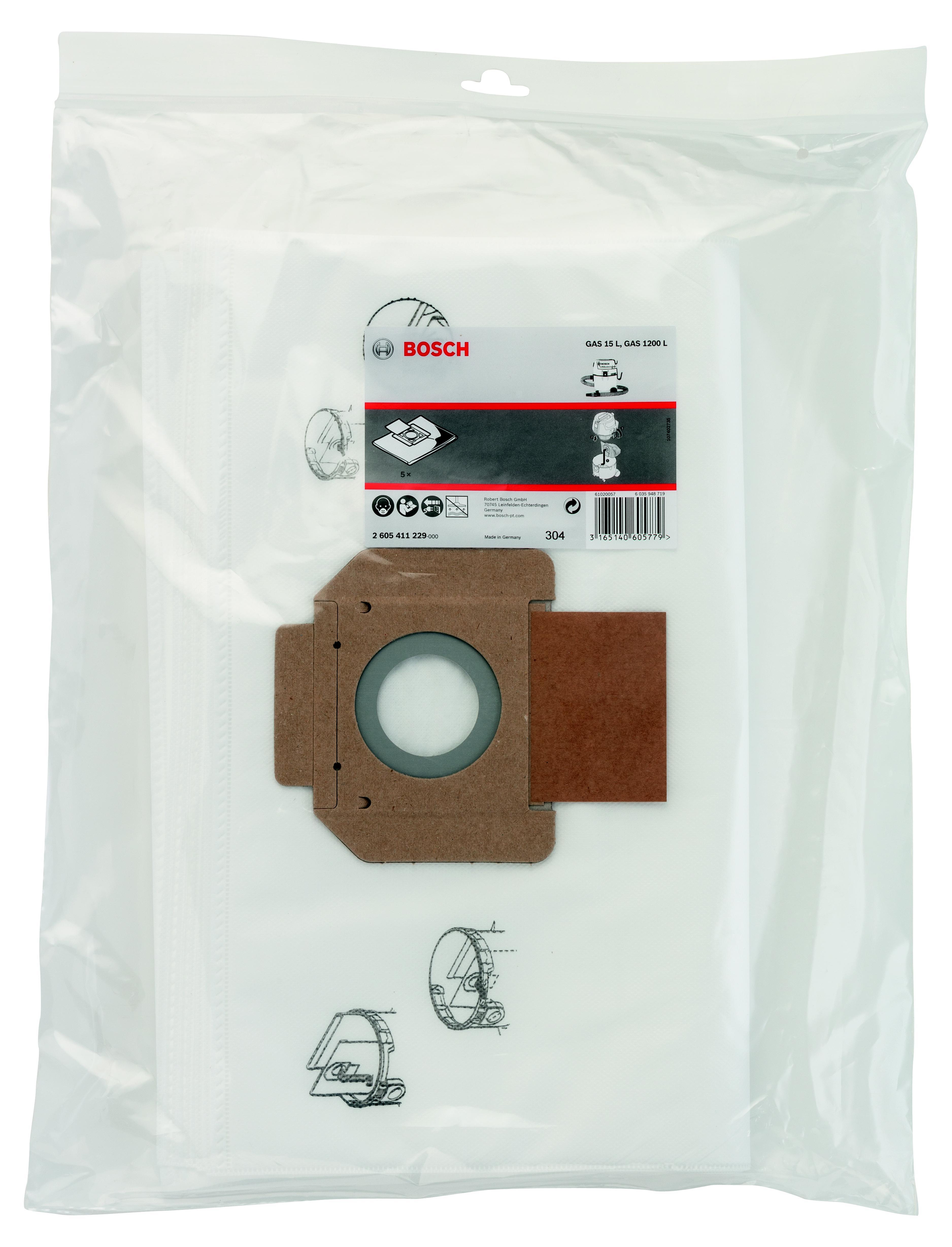 Мешок Bosch для пылесоса gas 15 l (для сухой пыли)(2.605.411.229)