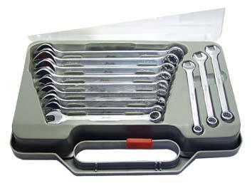 Набор комбинированных гаечных ключей в кейсе, 12 шт. Aist 0012212ak (8 - 19 мм)