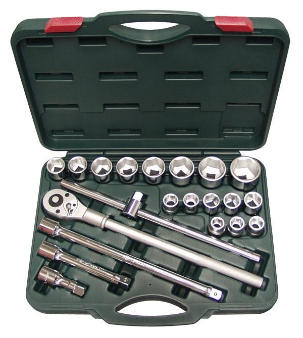 Набор торцевых головок с принадлежностями, 22 предмета Aist 509122 набор торцевых головок jonnesway 3 8dr 6 22 мм и комбинированных ключей 7 17 мм 36 предметов
