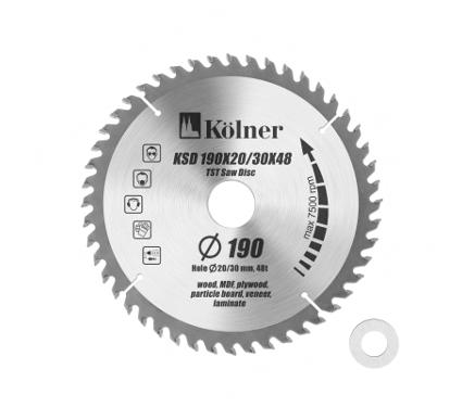 Диск пильный KOLNER 190х30мм 48зуб. (KSD кн190-20-30-48)