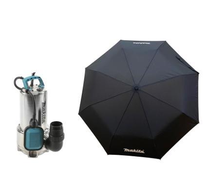 Набор MAKITA Дренажный насос PF1110 +Зонт складной PGH-180150