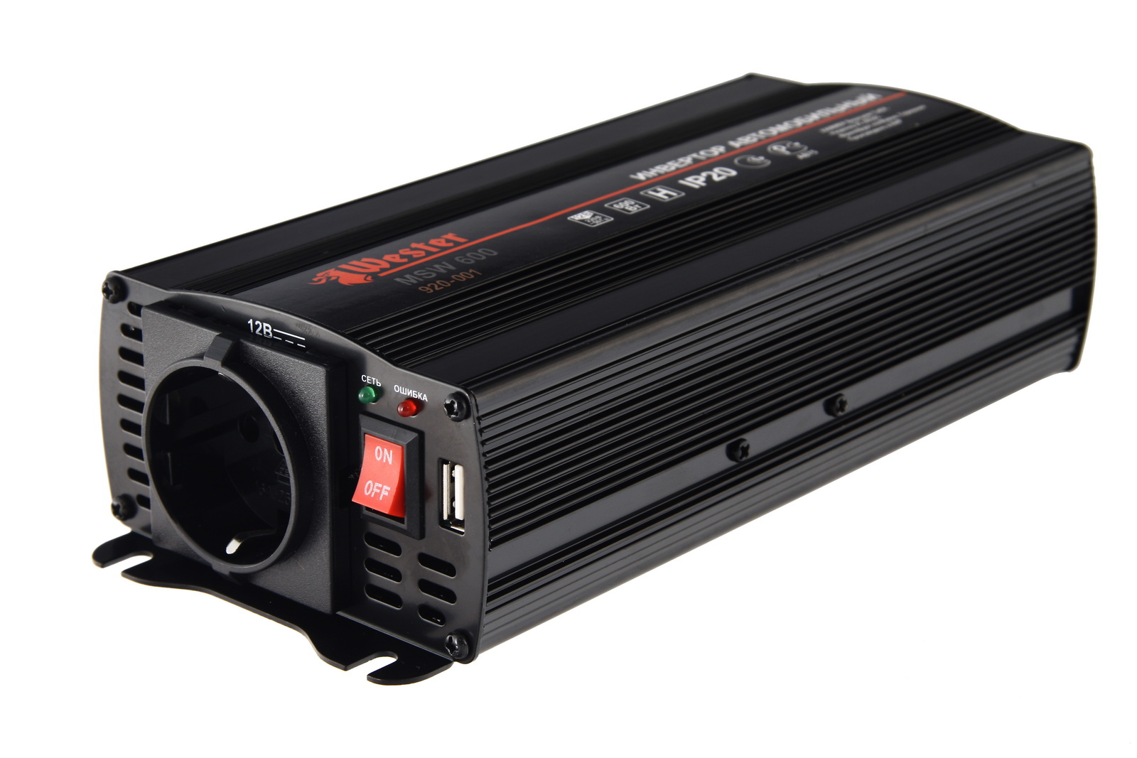 Преобразователь напряжения Wester Msw600 автоинвертор wester msw600