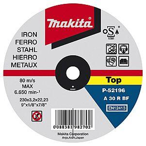 Круг отрезной Makita 180 x 3.2 x 22, по металлу круг отрезной hammer 180 x 1 6 x 22 по металлу и нерж стали коробка 150шт