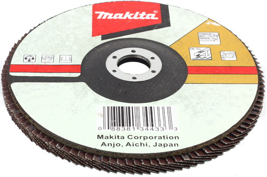 Круг Лепестковый Торцевой (КЛТ) Makita 125 x 22, k120 круг лепестковый торцевой makita 180х22 2мм к60 d 27741