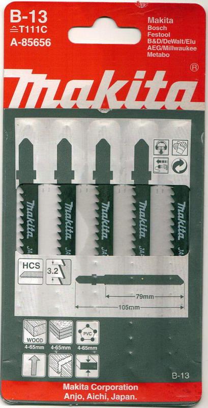 Пилки для лобзика Makita B-13 (t111c) пилки для лобзика makita b 26 t227d