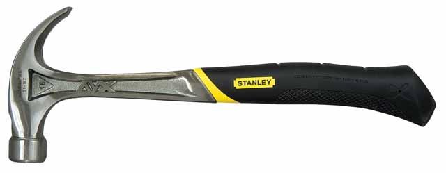Молоток слесарный StanleyМолотки ручные<br>Тип молотка: гвоздодер, Форма бойка: круг, Материал рукоятки: фиберглас<br>