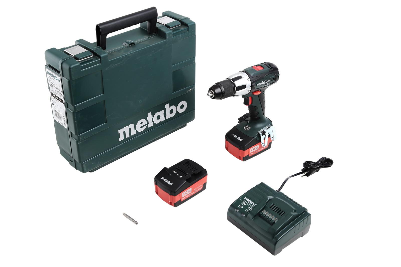 Ударная дрель-шуруповерт аккумуляторная  Metabo Sb 18 lt 4.0 (602103500)