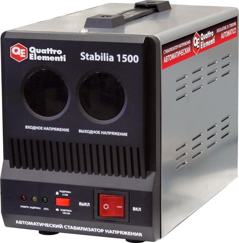 Стабилизатор напряжения Quattro elementi Stabilia 1500 стабилизатор напряжения quattro elementi stabilia 5000