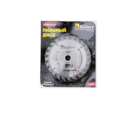 Диск пильный твердосплавный KOLNER кн200-30-24 KSD 200х30х24