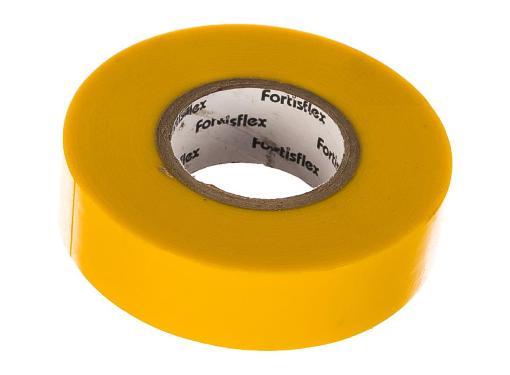 Изолента ПВХ FORTISFLEX ПВ 19 0.15 20 желтая 71232