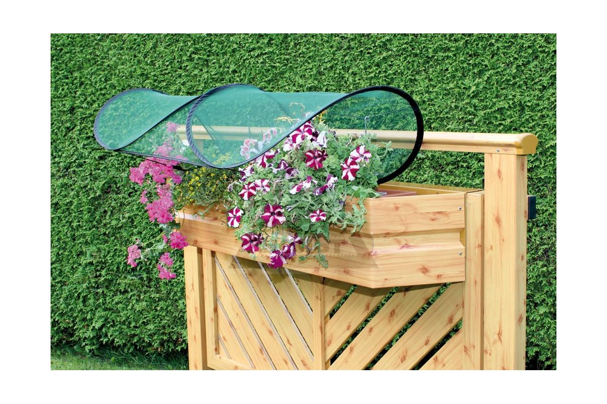 Навес для цветов на балконе 1 * 0,45-0,65 * 0,25м, сетка.