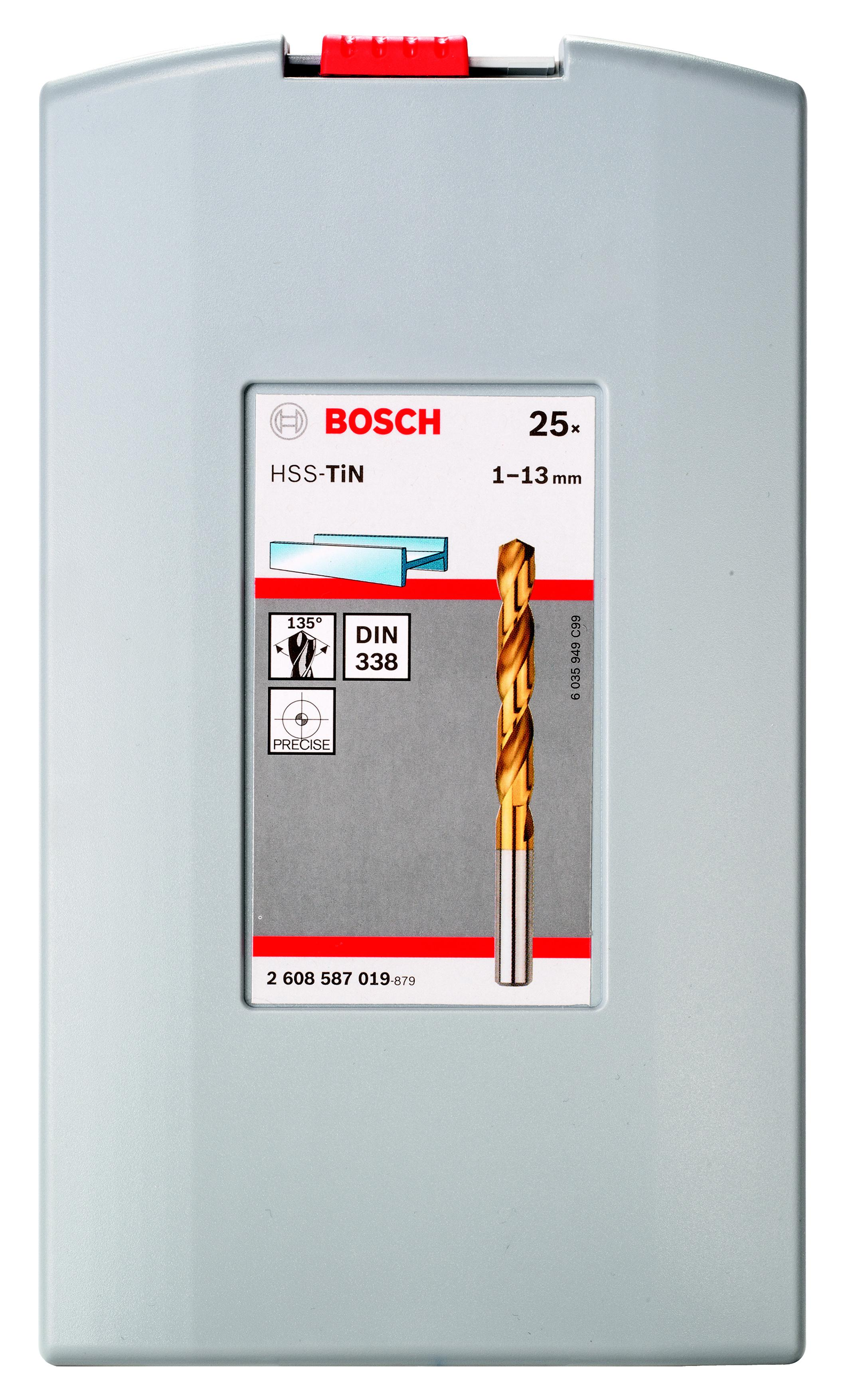 Набор сверл Bosch Probox hss-tin 25 шт. (2.608.587.019) nanibon кардиган