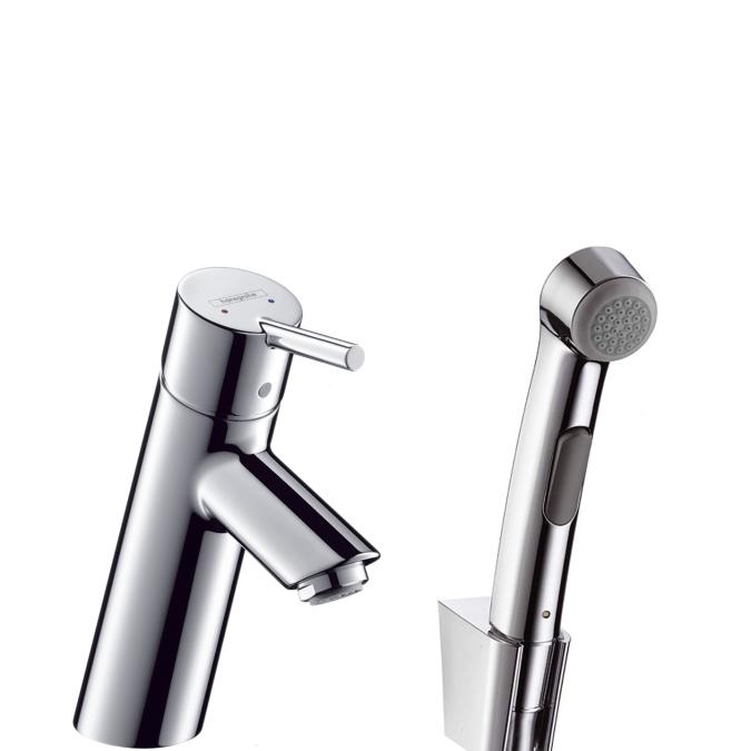 Смеситель с гигиеническим душем Hansgrohe Talis s2 32140000 hansgrohe talis s 32120000