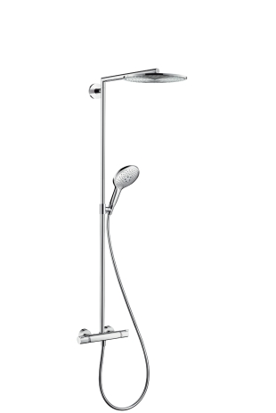 Стойка душевая Hansgrohe Raindance select showerpipe 300 27114000 душевой набор hansgrohe raindance select showerpipe 300 27114000