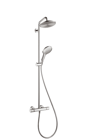Стойка душевая Hansgrohe Raindance select showerpipe 240 27115000 душевой набор hansgrohe raindance select e300 3jet showerpipe с термостатом 27127400