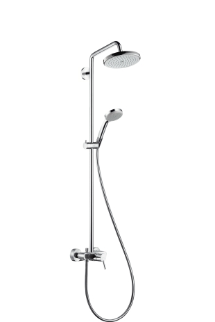 Стойка душевая Hansgrohe Croma 220 showerpipe 27222000 душевой гарнитур hansgrohe croma 100 1jet unica c 27717000