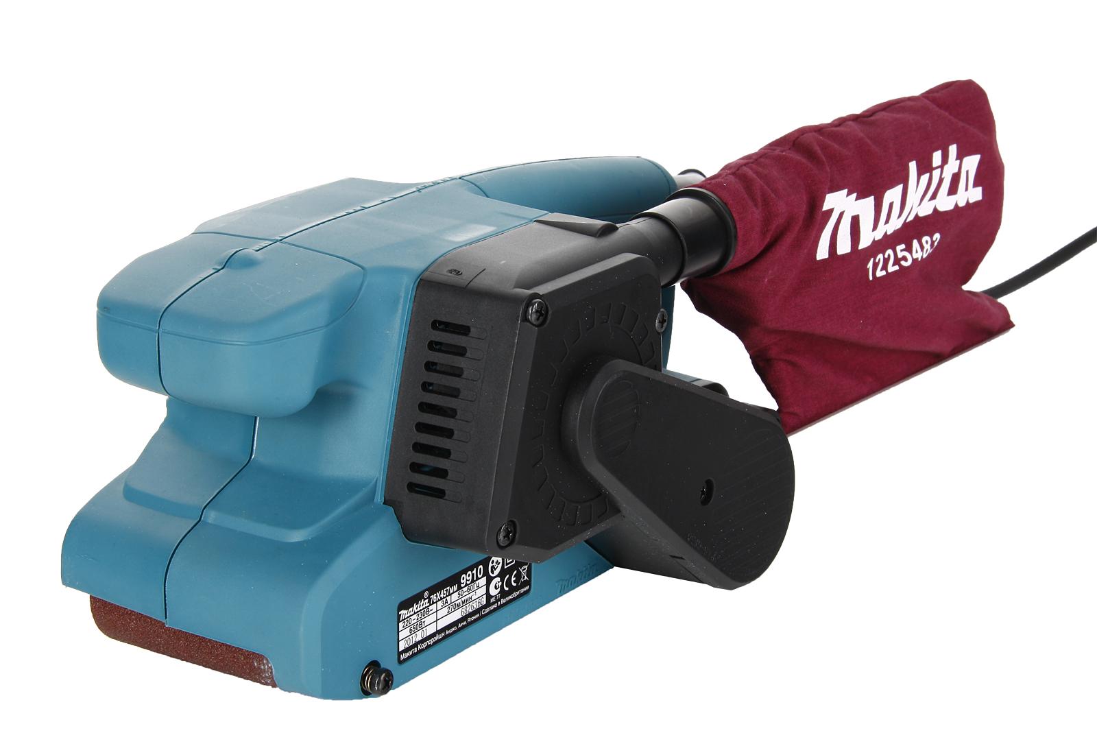 Машинка шлифовальная ленточная Makita 9910 машинка шлифовальная ленточная makita 9032 ленточный напильник