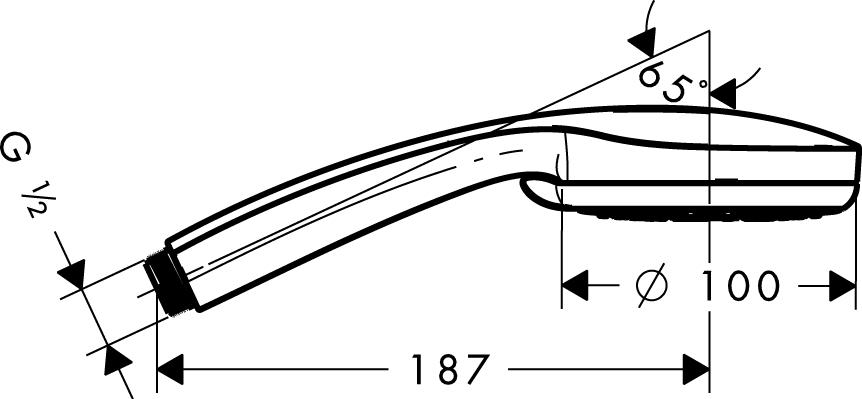 Душ ручной Hansgrohe Croma 100 vario 4jet 28535000 от 220 Вольт